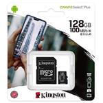 KINGSTON MEM. CARD SDCS2-MICRO 128GB CANVAS SELECT PLUS