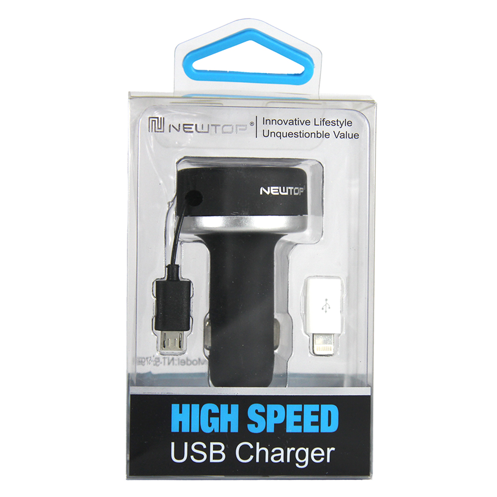 NEWTOP CAR CHARGER RETRATTILE