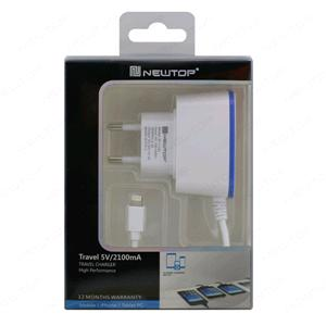 NEWTOP 2 USB CHARGER + CABLE 2.1A 5G/6G/IPAD 5-6 MINI