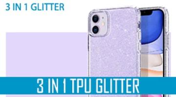 3 in 1 tpu glitter